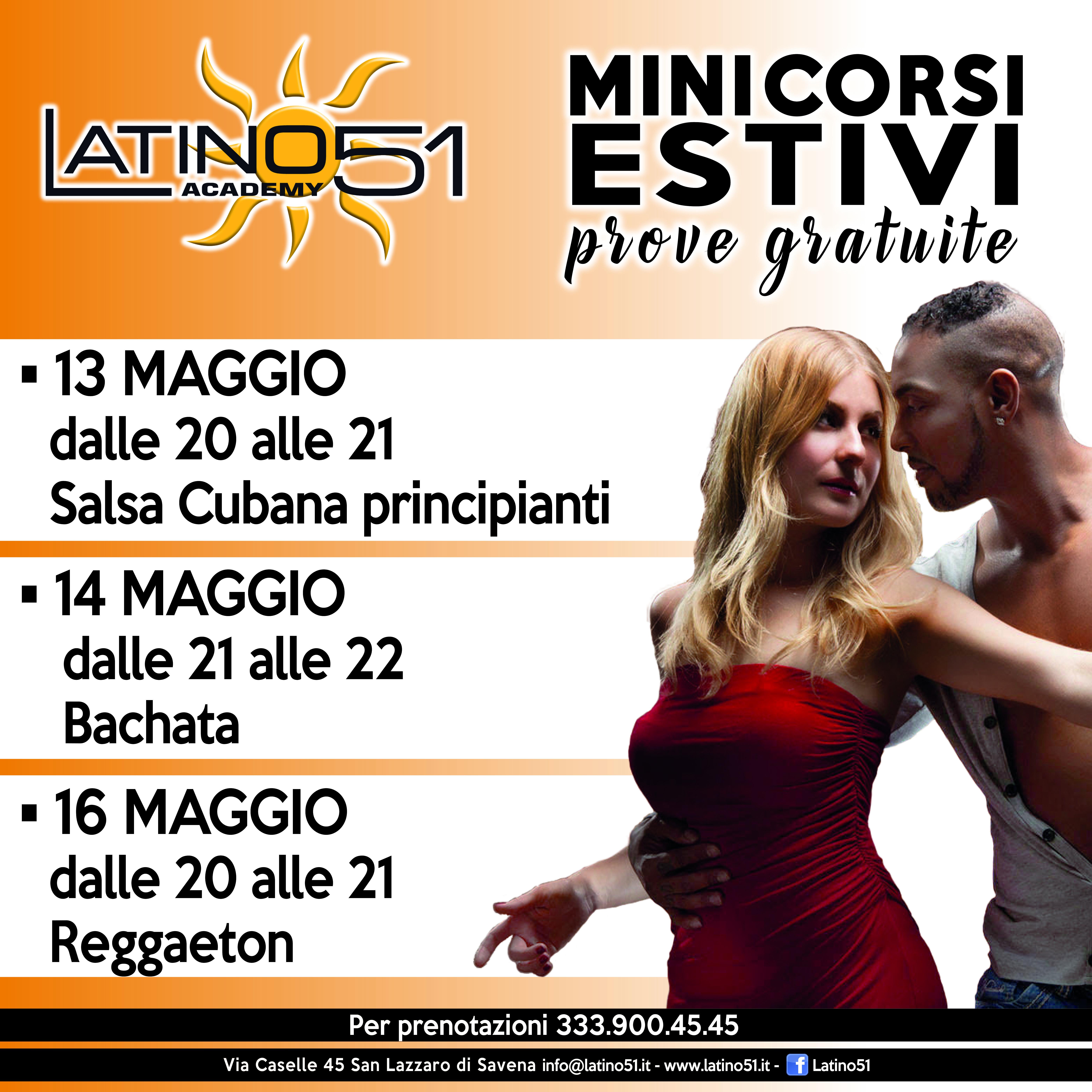 Mini corsi estivi Latino51 Bologna