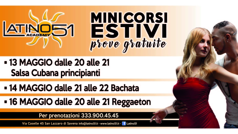 Mini Corsi Estivi Ballo 2019 Latino51 Bologna